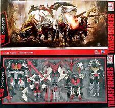 USA HASBRO Transformers Platinum Edition Dinobots G1 Head Grimlock Slug Slog SET
