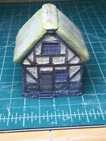 15 mm European Tudor style hut Unpainted building miniature