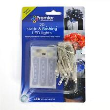 Premier 20 Battery Operated Static & Flashing LED Lights Warm White LB071941WW