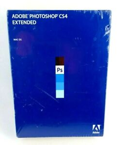 Adobe Photoshop CS4 Extended Mac OS Software New Sealed