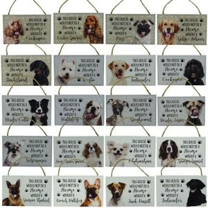 Dog Plaque Wall Sign Dog Lover Gift 20 Assorted Breeds Mohters Day Fathers Day
