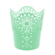 Hollow Flower Brush Storage Pen Pencil Pot Holder Container Desk Organizer Gift