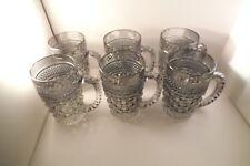 Vintage Anchor Hocking Smoke Glass Wexford Set of 6 Mugs B