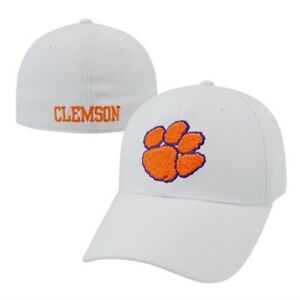 Clemson Tigers NCAA TOW White Premium Collection Memory Fit Hat