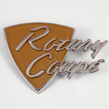 ROTARY COUPE metal Badge chrome New, for Mazda Rotary R100 1200 1300 1600 Rotor