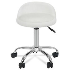 Spa Salon Stool with Back Rest Hydraulic Adjustable Height 5 Wheels 360 swivel