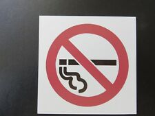 "ONE-4""X4"" Heavy Plastic ""NO SMOKING"" Pictorial sign Adhesive Backing"