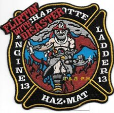 "*NEW*  Charlotte  Station 13 / HAZ-MAT, NC (4.25"" x 5"" size) fire patch"