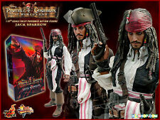 "NEW! USA! HOT TOYS 12"" Pirates Caribbean Jack Sparrow MMS42 At World's End 1/6"