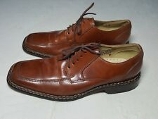 Mens STACY ADAMS Brown Leather Oxfords Loafers Made in Brazil Size 9M