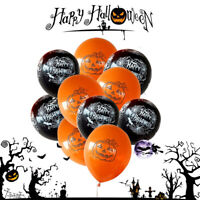 10pcs 12'' Halloween Balloons Skull Pumpkin Spider Latex Balloons Party Decor Ku