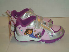 DORA THE EXPLORER PINK ATHLETIC SHOES WITH VELCRO CLOSURE SIZE 7 NEW SUPER CUTE