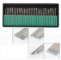 New 30Pcs  Manicure Pedicure PRO Electric Nail Drill Bit SET 3/32 File Shank LW