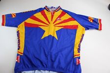 Micropelle Radere Zippered Cycling Shirt 2Xl Xxl Arizona Flag