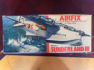 Airfix Short Sunderland Early Red StripeBox Version Very Good Complete Cond