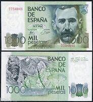 "1000 pesetas año 1979 Benito Perez Galdos ""SIN SERIE"" SC-  SPAIN Pick 158 A/UNC"