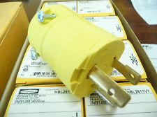 Hubbel HBL2611VY  Twistlock plug  30Amp  125vac  Yellow  NEW
