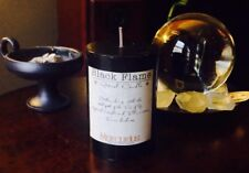 """Black Flame"" Highly scented Black Pillar Candle-Occult,Kabalah,Enochian"