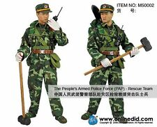 "DID 1/6 Scale 12"" PAP The Peoples Armed Police Force Rescue Team Figure M50002"