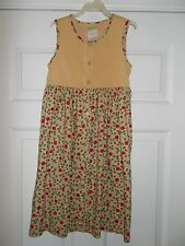 LAURA ASHLEY MOTHER AND CHILD COTTON Sleeveless Dress Sz 5 years ht./43 in. EUC