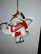 Coca-cola Polar Bear & Cub Skating Ornamnet