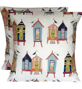 2 x Prestigious Beach Huts Neopolitan Cushion Covers
