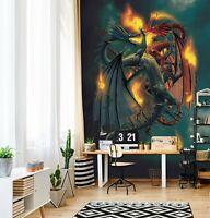 3D Western Dragon R21 Wallpaper Mural Sefl-adhesive Removable Vincent Zoe