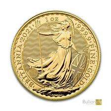 More details for 2021 gold britannia 1 oz gold bullion coin in coin capsule