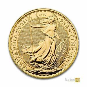 2021 Gold Britannia 1 oz Gold Bullion Coin in Coin Capsule