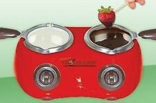 Koolatron Deluxe Chocolatiere Chocolate Melting Pot In Red Finish CM20 New