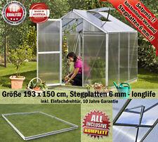Gewächshaus, Glashaus, Tomatenhaus B193 x T150 cm zum Setpreis