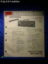 Sony Service Manual CFS W380 / W380L / W380S Cassette Recorder (#0994)