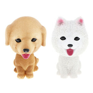 Dog Figurine Bobble Head Doll Toy Car Home Decor Samoyed, Golden Retriever
