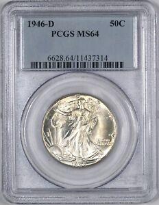 1946-D Walking Liberty Half Dollar 50C - PCGS MS64 -