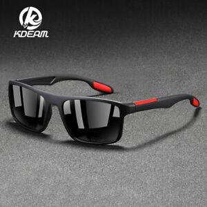 KDEAM Men's Polarized Sunglasses Sports Lightweight TR90 Frame Outdoor Glasses