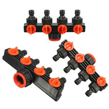 4Way Tap Adapter Shut Off Manifold Garden Water Hose Pipe Quick Connector