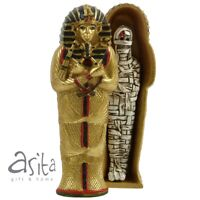 Golden Tutankhamun Sarcophagus with Mummy Egyptian Gift