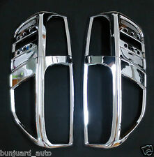 CHROME REAR TAIL LIGHT SURROUNDS COVERS TRIMS USE FOR NISSAN NAVARA D40 2005-15