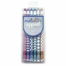 International Arrivals Metallic Appeel Peelable Crayons, Set of 6