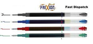 Pilot Frixion Erasable Roller Ball Pen 0.7 mm Fine Refill - Red Green Blue Black