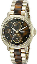 Fossil ES3923 Chelsey Brown Dial Gold Tone Stainless Steel Women's Watch