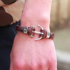Armband Vintage Infinity Freundschaft Love Anker Perle Kunstleder ancient