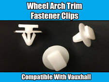 10x CLIPS FOR VAUXHALL CORSA C WHITE PLASTIC WHEEL ARCH TRIM FASTENERS