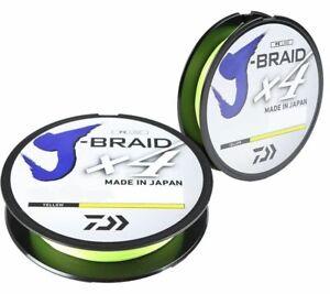 Daiwa J-Braid X4 Braided Fishing Line 65lb-150 Yards HI-VIS YELLOW JB4U65-150FY