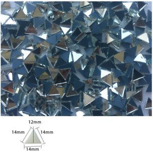 15mm Triangle Mirror Glass Mosaic Tiles For Crafts Supply Hand DIY 150 Pieces