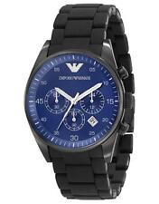 Emporio Armani Sportivo Black Silicone/Blue Quartz Analog Men's Watch AR5921