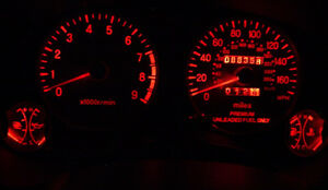 8pcs RED LED Dash Cluster light Kit for Subaru Impreza WRX MY99 MY00