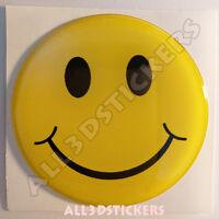 Pegatina Emoticono Sonrisa Sonreir Emoji Adhesivo Relieve Coche Moto Tablet 3D