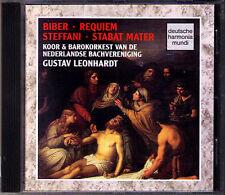 BIBER Requiem a 15 STEFFANI Stabat Mater GUSTAV LEONHARDT CD Mark Padmore DHM