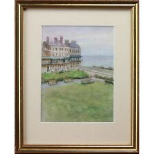 Seaside Antique Alexander Strahan Buchanan Sidmouth Devon Watercolour Painting